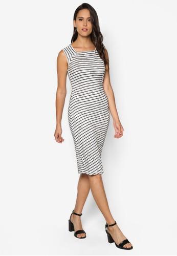 條紋貼身連esprit台灣網頁身裙, 服飾, 洋裝