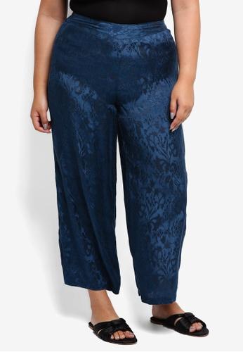 Junarose blue Plus Size Saliraz Cropped Pants F71EDAADF9A13CGS_1