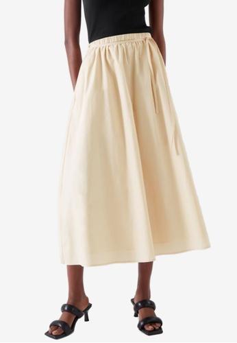 COS beige Wide-Leg Culottes 20755AAE1B8EF5GS_1