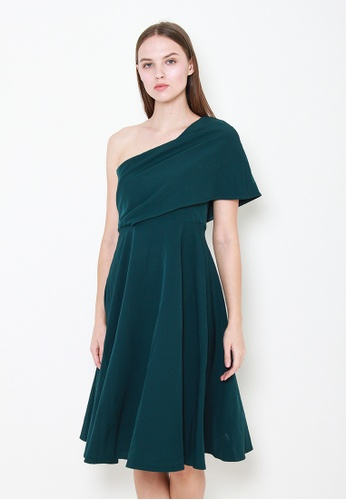 Leline Style green Gianna Toga Dress 46908AA0AD80BDGS_1