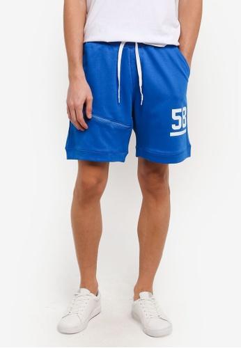 Marc & Giselle 藍色 Jogger 短褲 MA188AA0RTKCMY_1