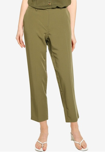 Dorothy Perkins brown Khaki Ankle Grazer Tailored Trousers 77EBBAA16D0EF2GS_1