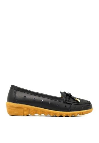 Carlo Rino black Carlo Rino 33320-A011-08 Round Toe Flats (Black) 199FASH4B9FB86GS_1