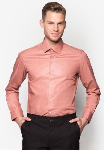 素色合身長袖襯衫, esprit專櫃服飾, 襯衫