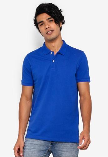 OVS 藍色 Basic POLO衫 96255AA790461FGS_1