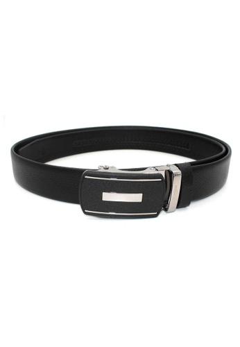 midzone black Genuine Leather Belt With Automatic Buckle MI949AC35WSEMY_1
