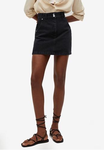 Mango grey Pocket Denim Mini Skirt 486C9AA64CFCCBGS_1