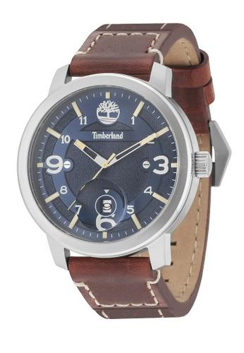 Timberland Watches blue Timberland TBL.15017JS/03 PEMBROKE Blue dial Men Leather Watch 966A4AC7C53192GS_1