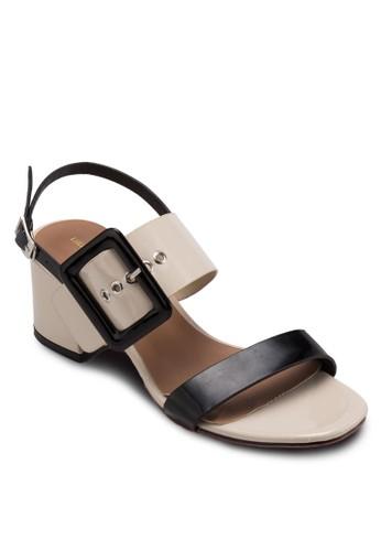 MCesprit 手錶 扣環飾粗跟涼鞋, 女鞋, 鞋