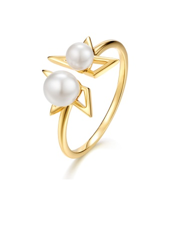 SUNSET gold Premium 9K Gold Pearl Ring 7F6CDACE42FF83GS_1