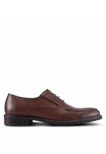 ZALORA brown Closed Lace Oxford Shoes 71BF6SH4CB33F1GS_1