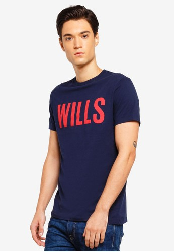 Jack Wills navy Wentworth Wills Graphic T-Shirt 5324DAAD39D70DGS_1
