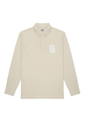 Kent and Curwen yellow Long Sleeve Polo Shirt C2F8FAA14BA168GS_1