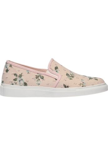 paperplanes pink SNRD-138 Flower Pattern Tall-Up Casual Slip-Ons Shoes US Women Size PA355SH30QAVSG_1