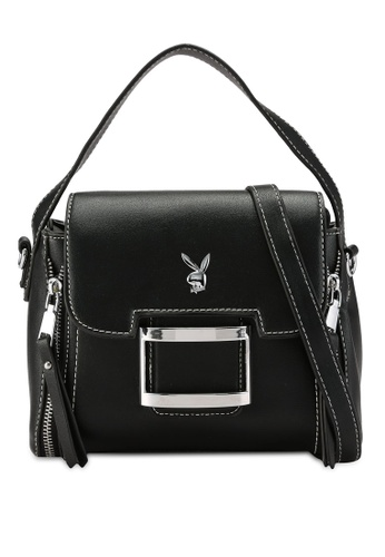 PLAYBOY BUNNY black Zipper Fun Triangular Bag 1BD28ACD92F2ADGS_1