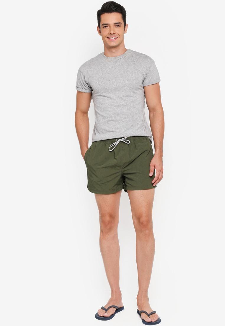London Menswear Shorts Olive Swim Regular Pull On Khaki Burton Khaki q0TYw