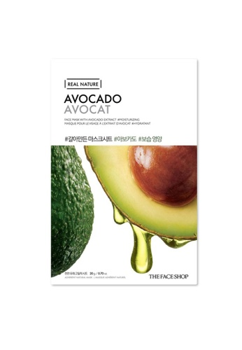 THE FACE SHOP Real Nature Mask Sheet - Avocado [Bundle of 10] D37F5BE18F05FDGS_1