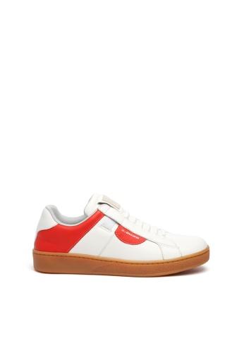 Royal Elastics 白色 and 紅色 Icon Dots 蘋果紅真皮運動休閒鞋 B5AD2SHB525BF4GS_1