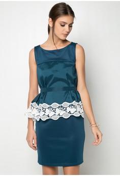 Peplum Short Dress