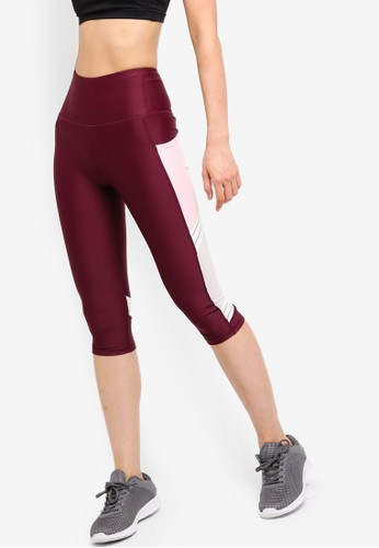 Cotton On Body red and pink Filament Mesh Capris 93786AA497C7E4GS_1