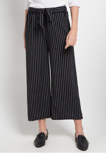 SIMPLICITY black and multi Cropped Culotte F05C6AA6631A21GS_1