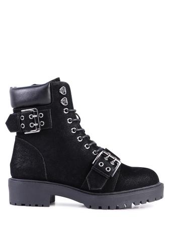 London Rag black Adjustable Buckle Chunky Sole Boots 38EE4SH2B1C240GS_1