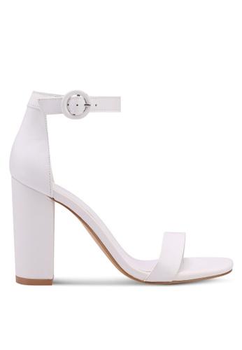 Mango white Leather Ankle-Cuff Sandals D8B9DSH4B88DB5GS_1