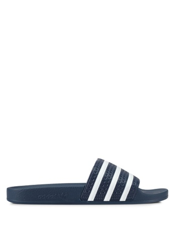adidas white and blue adidas originals adilette AD372SH0SSMXMY_1