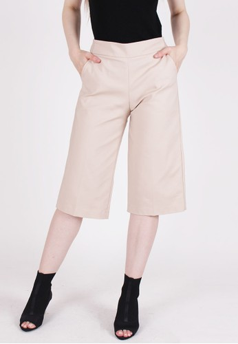 MAGNOLIA beige Basic Cropped Trousers 84196AAD787984GS_1