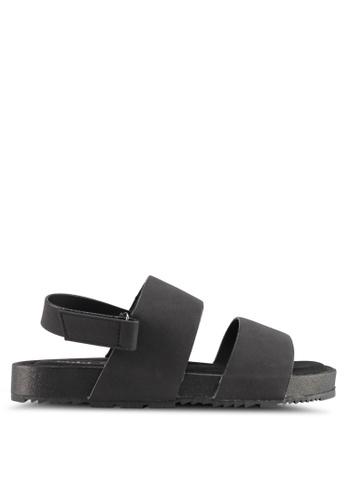 Rubi black Olivia Double Strap Slingback Sandals F492ASH062B641GS_1