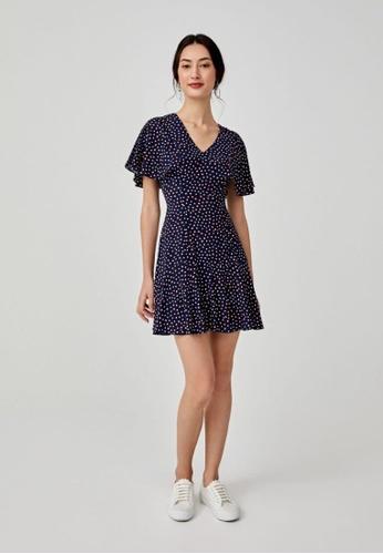 Love, Bonito blue Bria Ruffle Hem Dress 9A171AA118033FGS_1