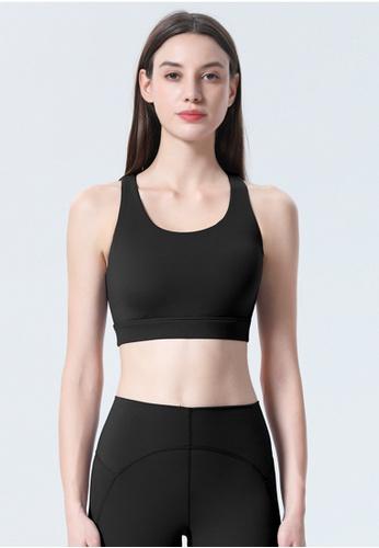 Trendyshop black Quick-Drying Yoga Fitness Sports Bras 56C70US6A1B790GS_1
