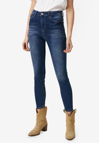 KOTON blue Crop Skinny Jeans 9E848AADF71B36GS_1