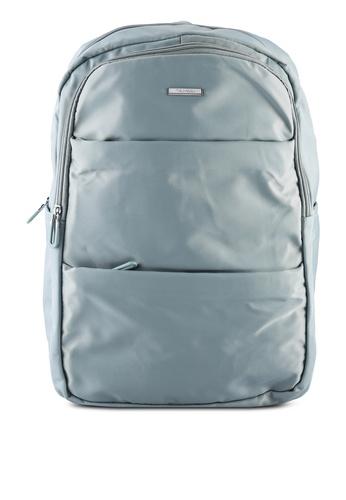 NUVEAU blue Lightweight Nylon Backpack 99362ACE169000GS_1