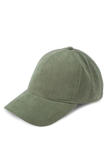 TOPMAN green Khaki Curve Peak Cap TO413AC0T1N6MY_1