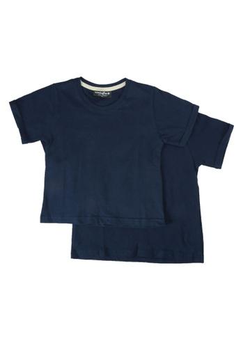 UniqTee navy Folded Short Sleeve Tee 2-Pack 2286EKA1841345GS_1