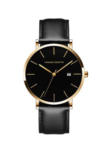 HANNAH MARTIN black Hannah Martin Classic Men Leather Quartz Watch 659D5ACF5C3935GS_1