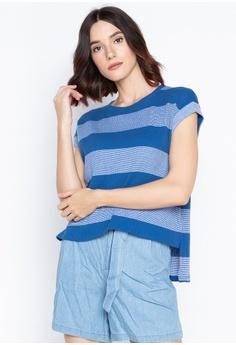 2919a36ab962f Folded & Hung blue High-Low Tee 7DC66AAC1D87B3GS_1