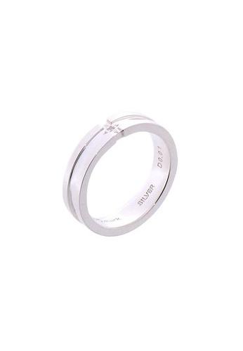 The LoveMark silver Diamond Cross Ring for Men lr0001m TH516AC04UZNPH_1