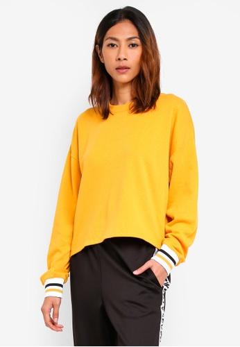 Supre yellow Slouch Sweatshirt DBCF9AA1A7D11CGS_1