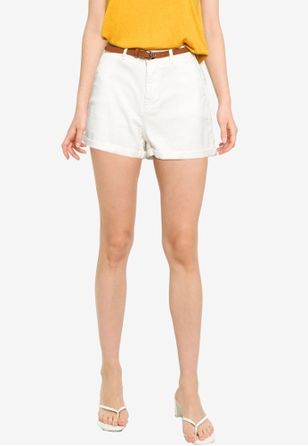 Springfield white Chino Shorts With Belt 10230AAD981BCFGS_1