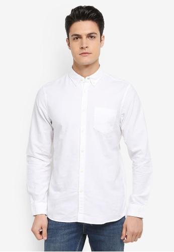 Jack Wills white Wadsworth Oxford Plain Shirt ED5D4AA89735F9GS_1