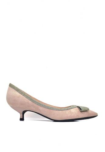 Twenty Eight Shoes 米褐色 華麗蝴蝶結小幼跟鞋 VL2955 024A6SH0F01649GS_1