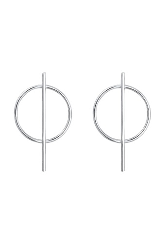Elli Germany silver Elli Germany Earrings Circle Basic Geo Minimal 925 Sterling Silver 9CBB5ACBD7979FGS_1