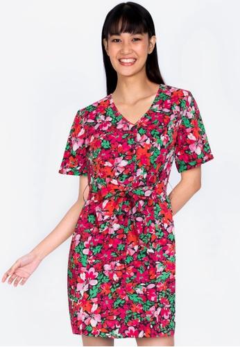 ZALORA BASICS multi Broderie Fitted Shirt Dress E005FAA2A4FBB9GS_1