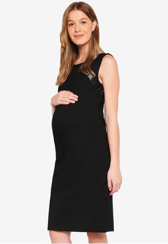Noppies black Maternity Short Sleeve Luna Dress 1FC2AAAE16E854GS_1