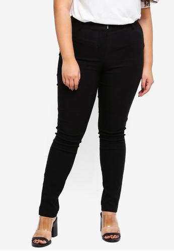 Junarose black Plus Size Cica Pants 28935AA0E4D604GS_1