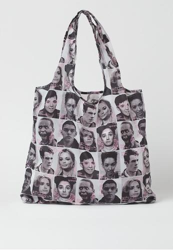 H&M multi Photo-print Shopping Bag 83E1AAC49ABE16GS_1