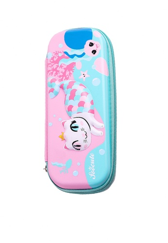 Twenty Eight Shoes pink VANSA 3D Cartoon Pencil Case  VAK-A99887 600C2KC39C9592GS_1