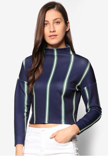 條紋高領長袖衫、 服飾、 外套Penshoppe條紋高領長袖衫最新折價